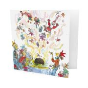 Pack of 10 Quentin Blake Marie Curie Charity Christmas Cards - Christmas Pudding